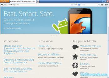 Mozilla Firefox ekran görüntüsü