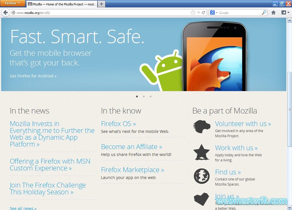 Скриншот в Mozilla Firefox
