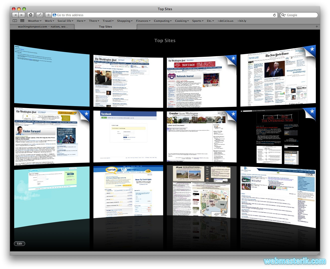 Скриншот в Safari