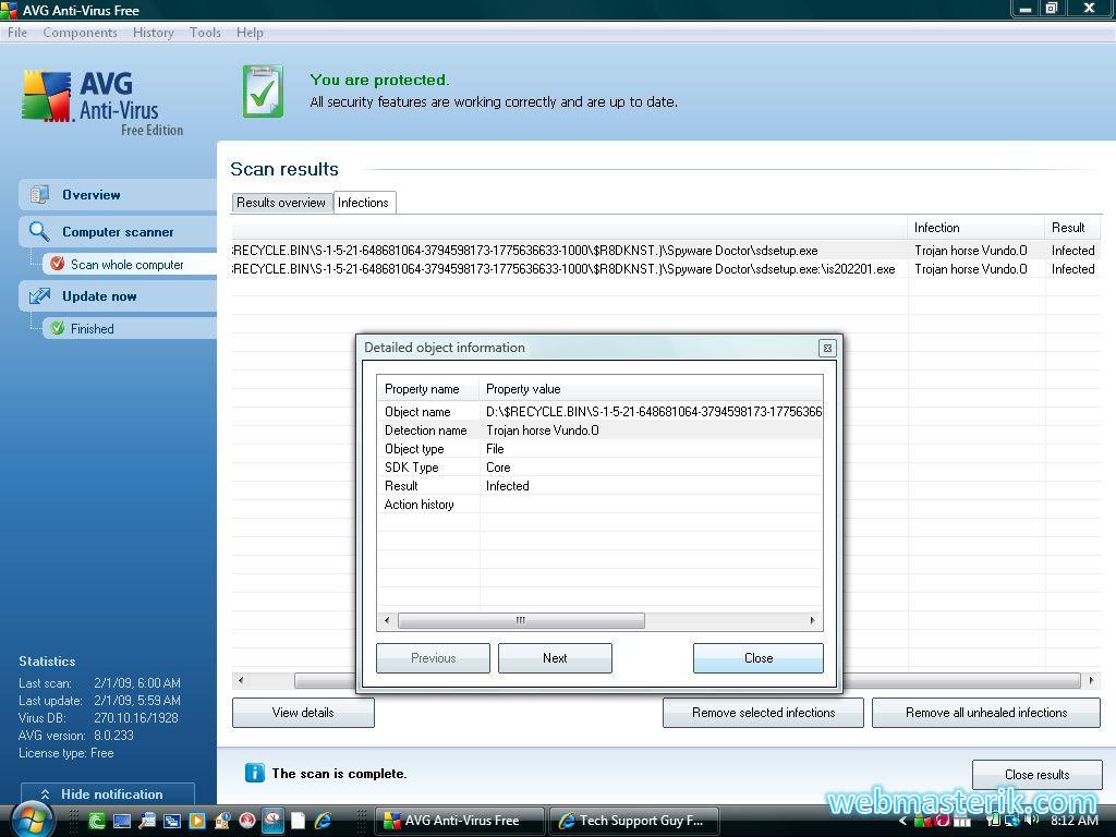 AVG Antivrus ekran görüntüsü