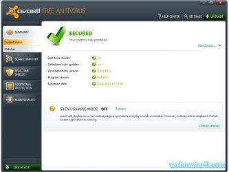 Avast Free Antivirus ekran görüntüsü