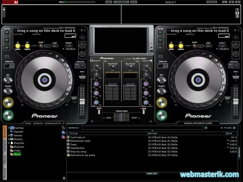 Скриншот в Virtual DJ