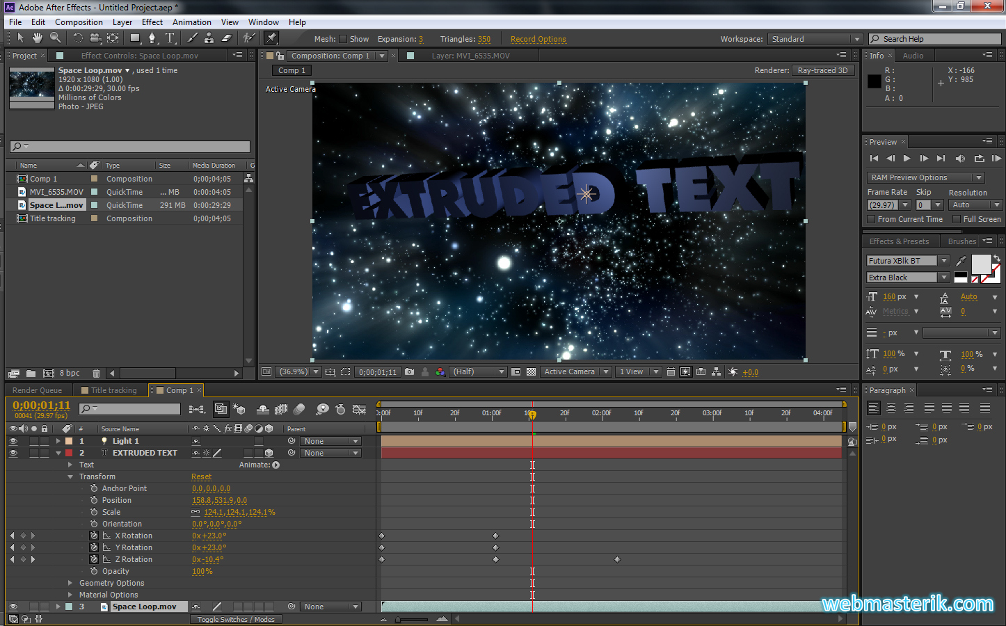 Скриншот в Adobe After Effects CS6