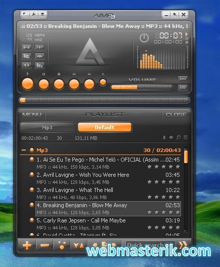 Скриншот в Aimp3