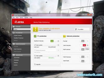 Avira Free Antivirus ekran görüntüsü