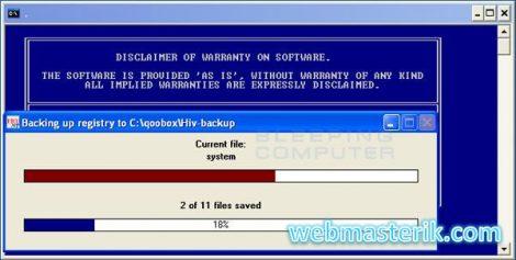 ComboFix ekran görüntüsü