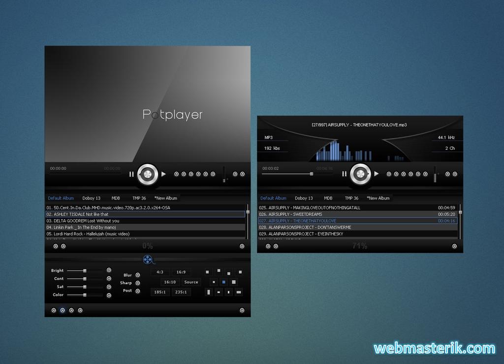 Скриншот в PotPlayer