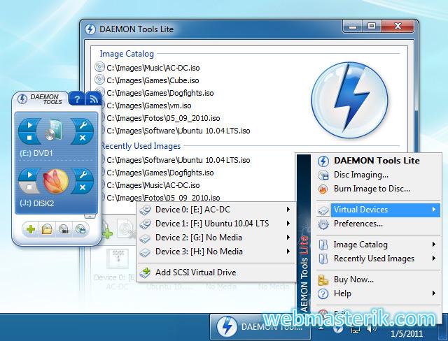 Daemon Tools Lite ekran görüntüsü