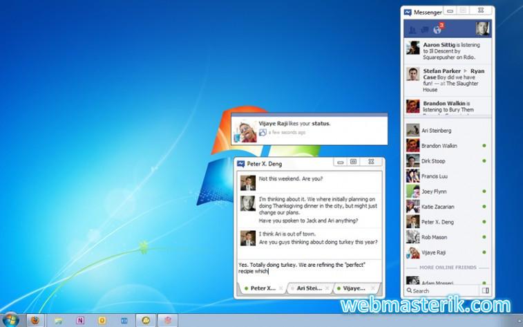 Скриншот в Facebook Messenger
