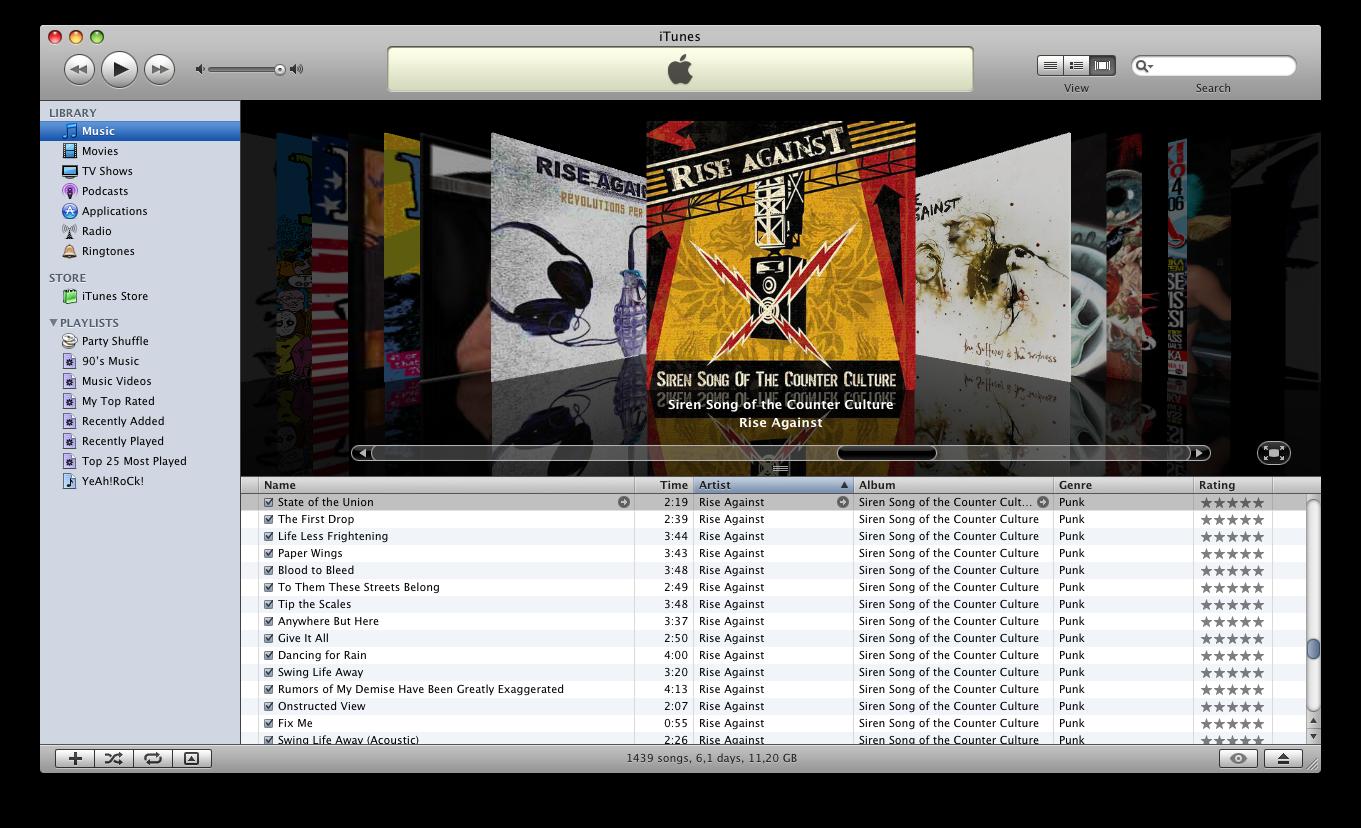 Скриншот в iTunes