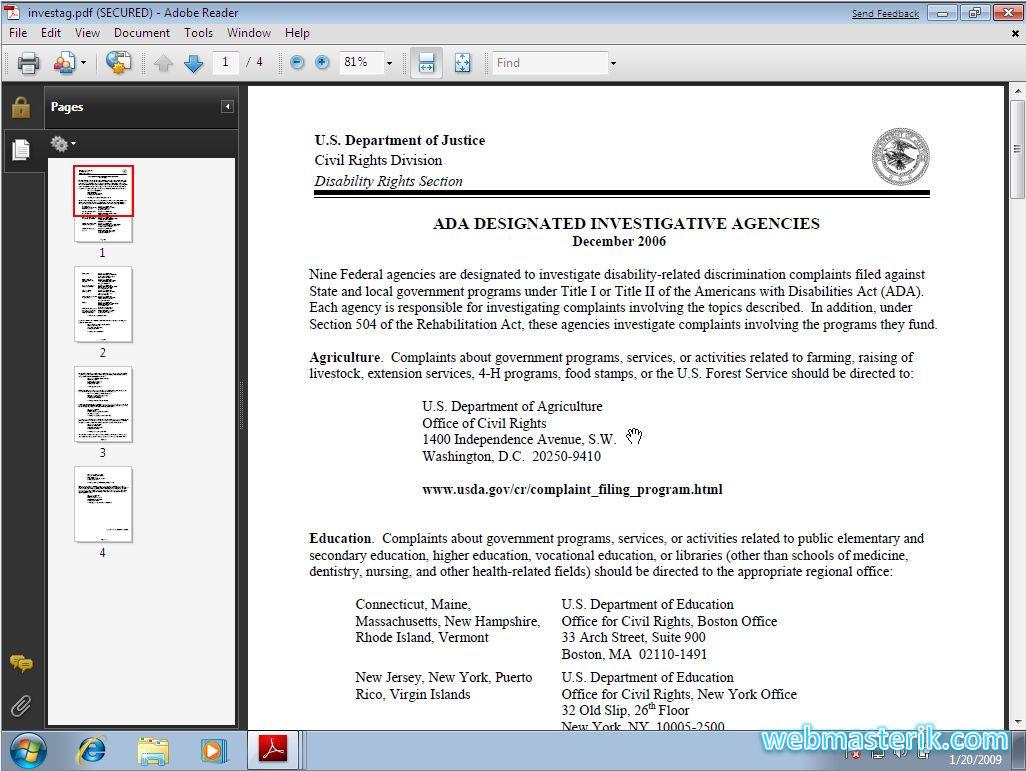 Скриншот в Adobe Reader