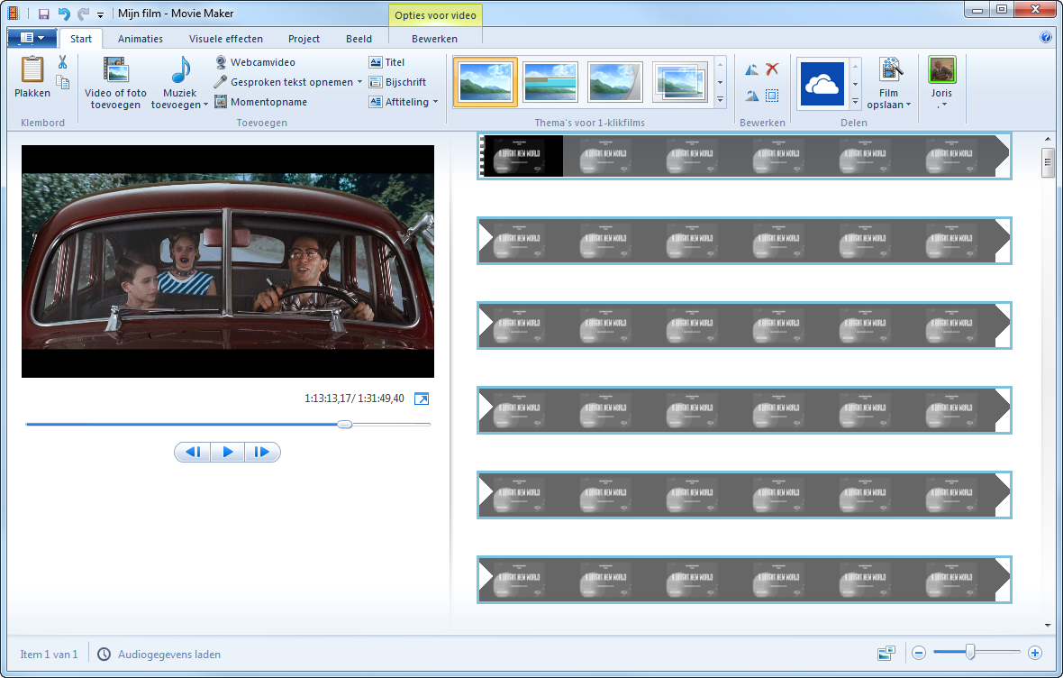 Windows Movie Maker ekran görüntüsü