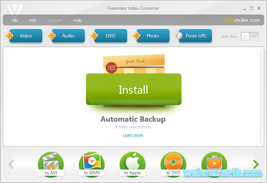 Скриншот в Freemake Video Converter