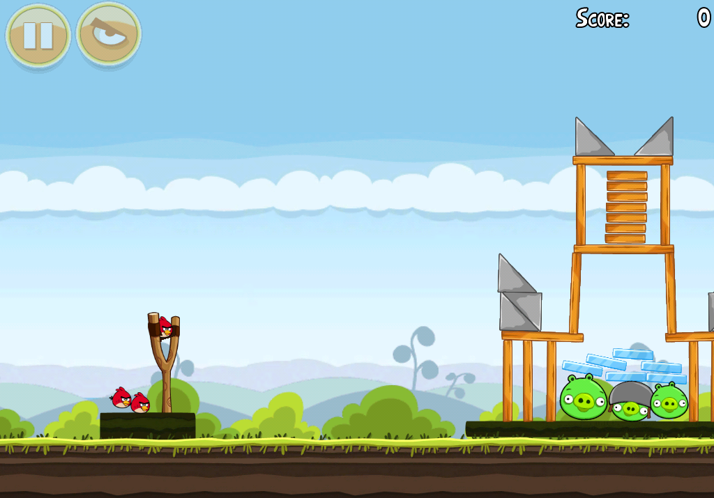 Скриншот в Angry Birds