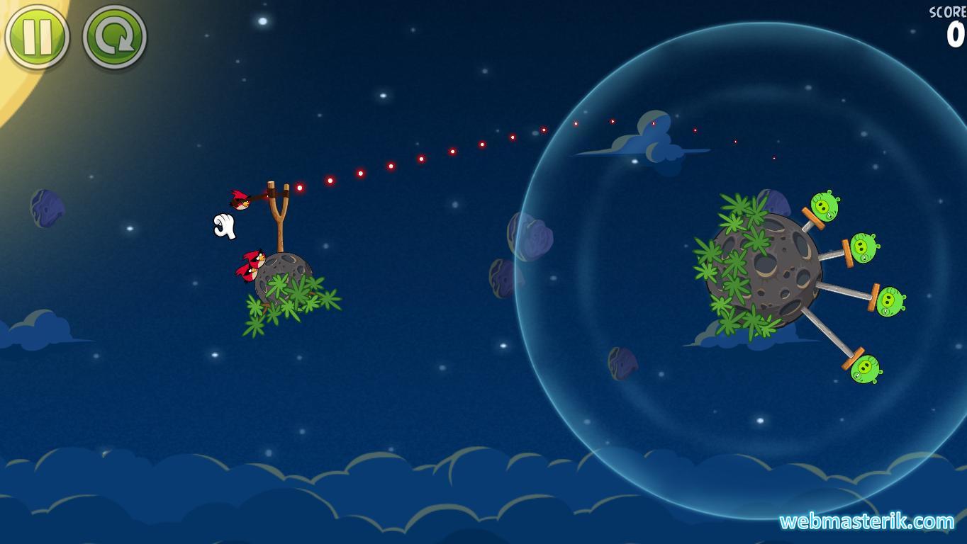 Скриншот в Angry Birds Space