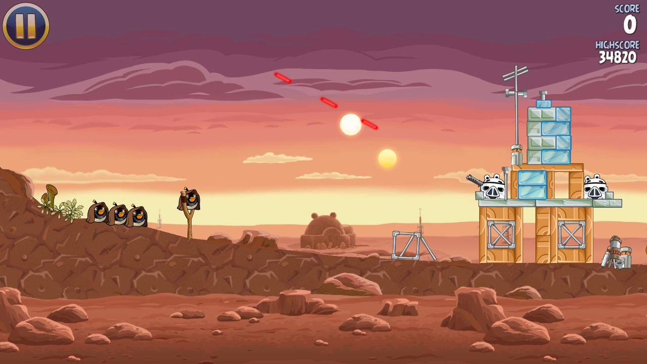 Скриншот в Angry Birds Star Wars