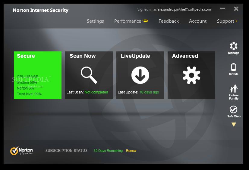 Norton Antivirus ekran görüntüsü