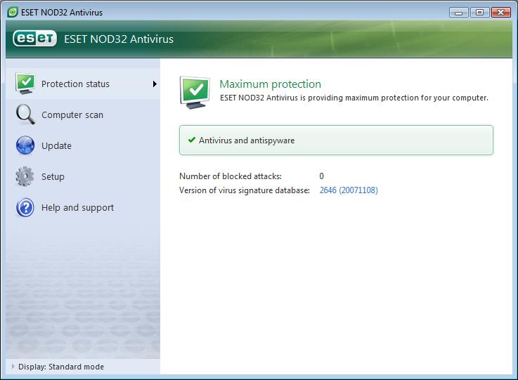 ESET NOD32 Antivirus ekran görüntüsü