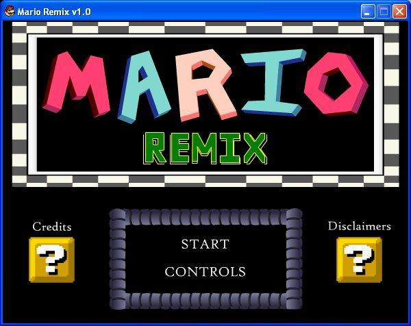 Скриншот в Mario Remix