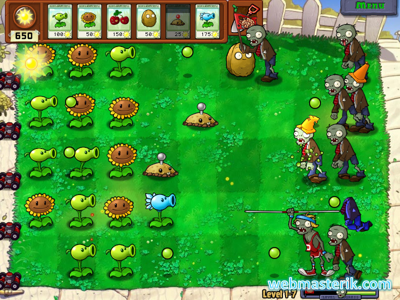 Скриншот в Plants vs. Zombies
