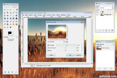 GIMP ekran görüntüsü