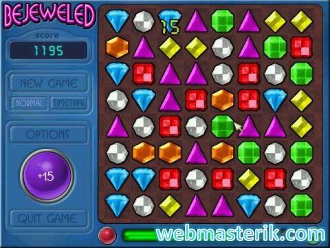 Скриншот в Bejeweled