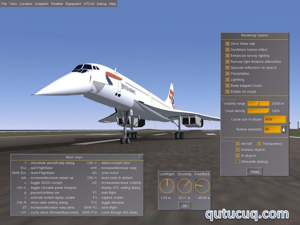 FlightGear ekran görüntüsü
