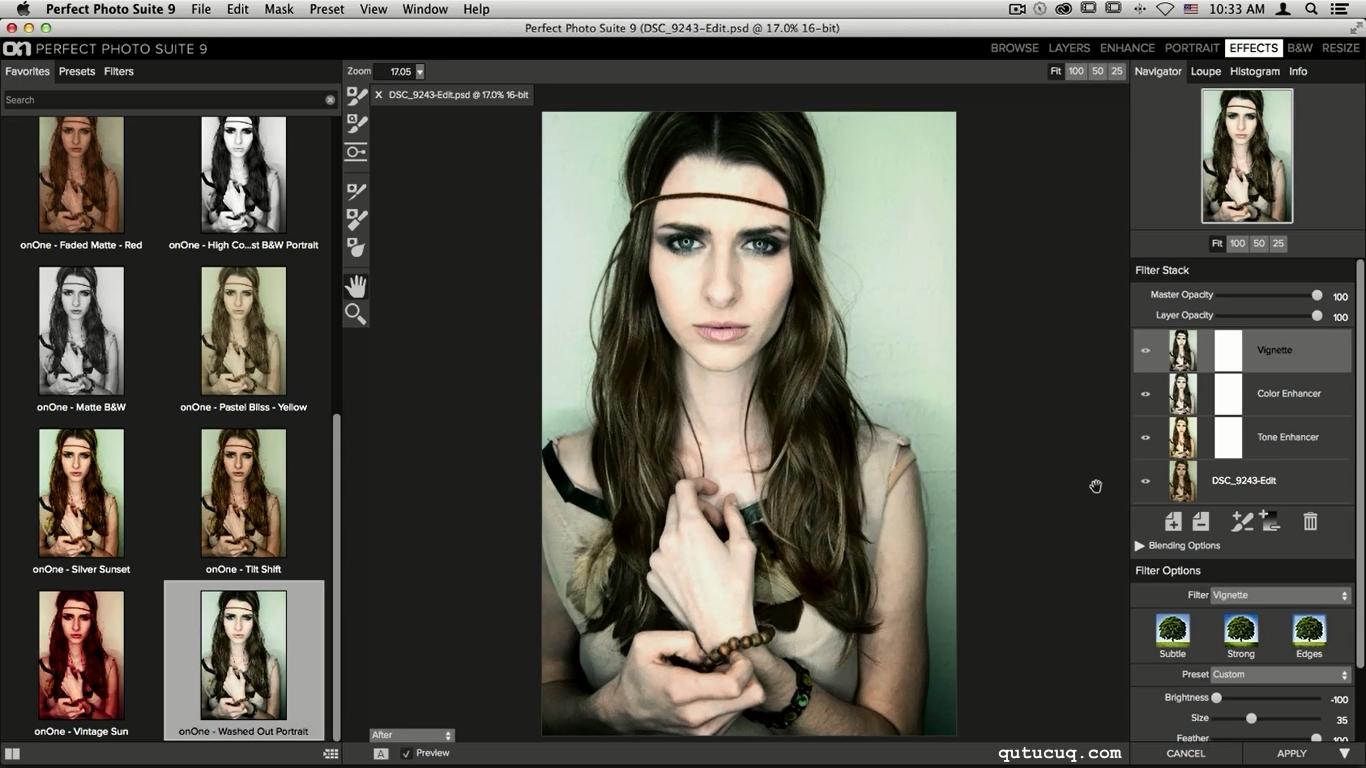 Скриншот в Perfect Effects 9