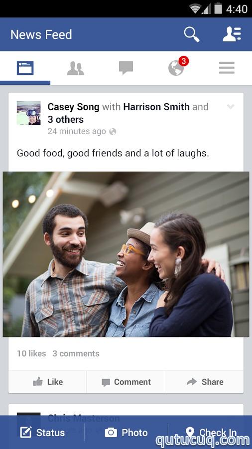 Facebook ekran görüntüsü