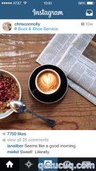 iOS üçün Instagram ekran görüntüsü