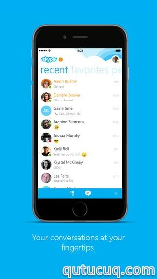 Skype iPhone üçün ekran görüntüsü