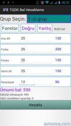 TQDK Bal Hesablama Proqramı ekran görüntüsü