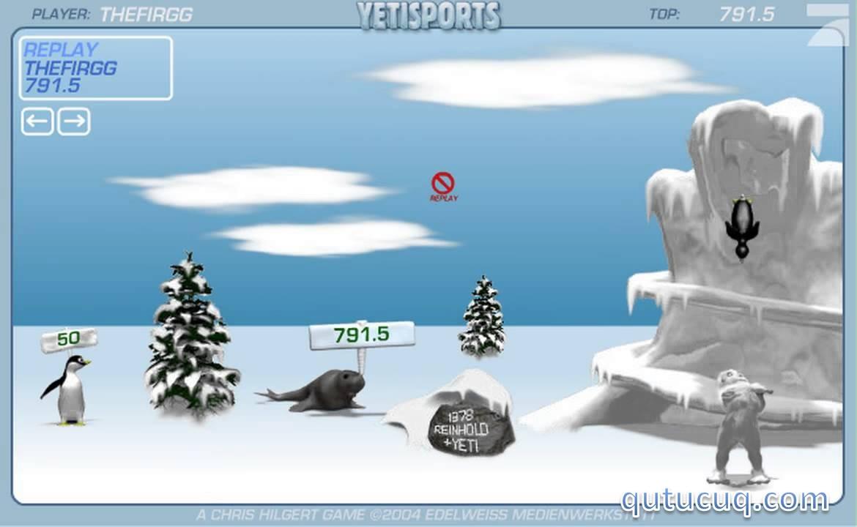 YetiSports 1: Pingu Throw ekran görüntüsü