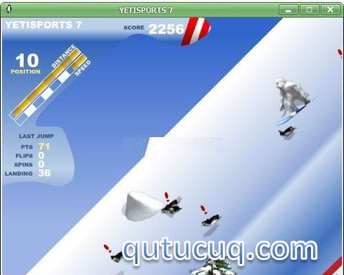 YetiSports 7: Snowboard Free Ride ekran görüntüsü