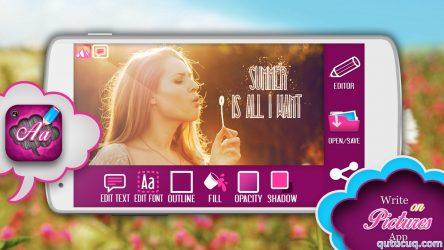 Write on Pictures App – Şəkillərə yazı yazmaq ekran görüntüsü