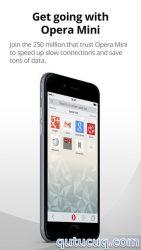 iOS üçün Opera Mini ekran görüntüsü