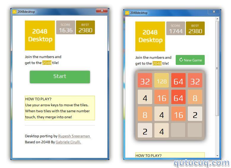 Скриншот в 2048 Desktop