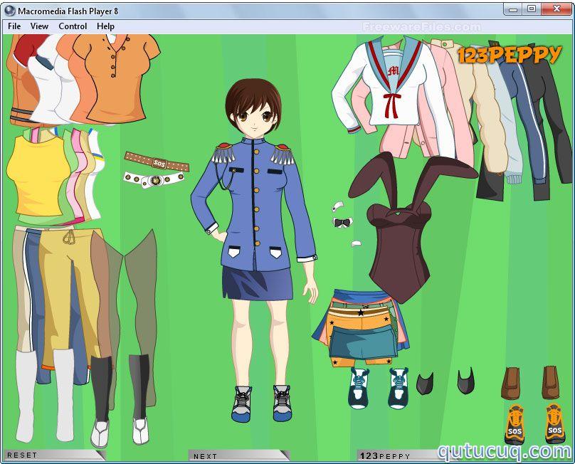 Anime Girl Dress Up ekran görüntüsü