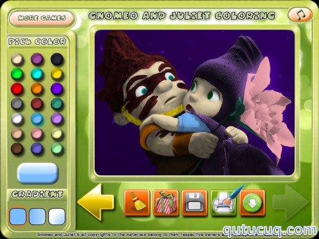 Gnomeo and Juliet Coloring ekran görüntüsü