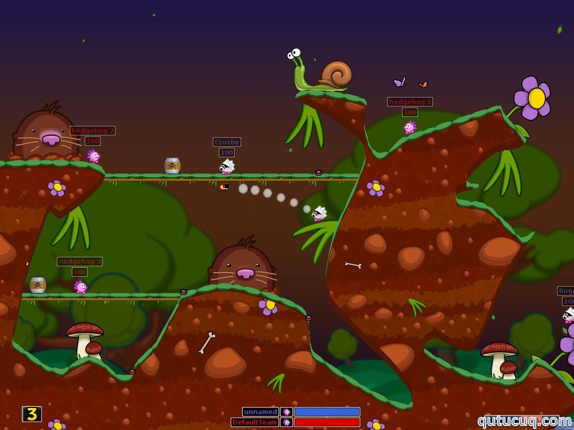 Hedgewars ekran görüntüsü