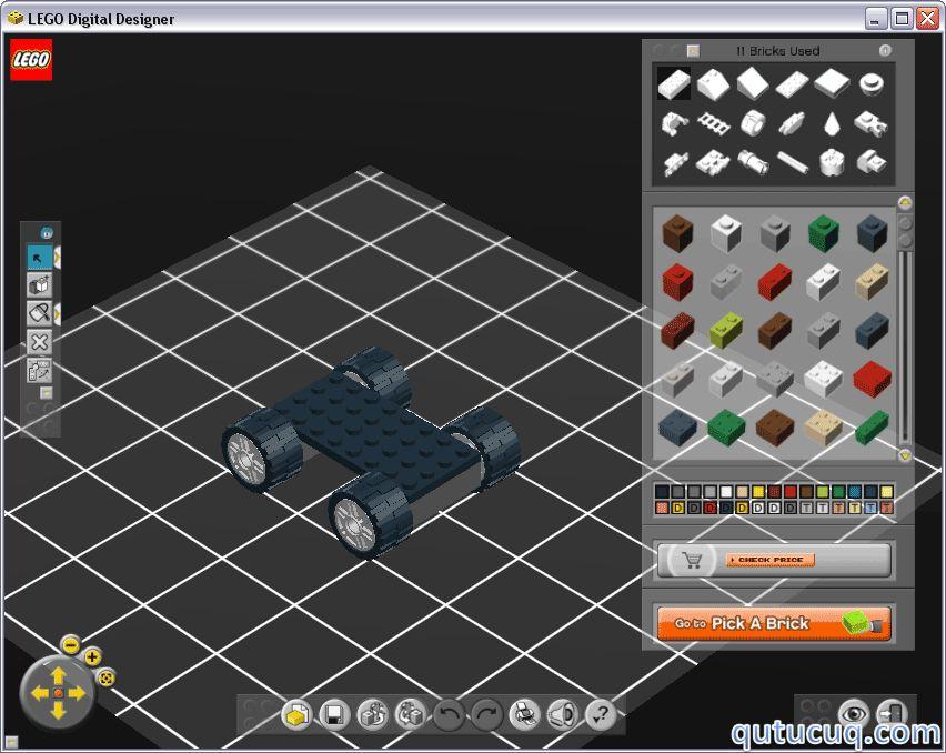 Скриншот в LEGO Digital Designer