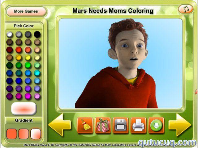 Mars Needs Moms Coloring ekran görüntüsü