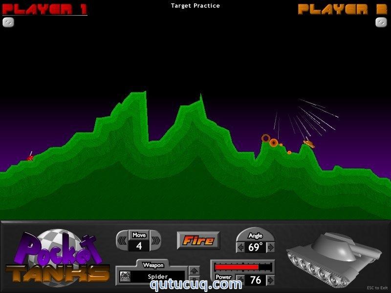 Pocket Tanks ekran görüntüsü