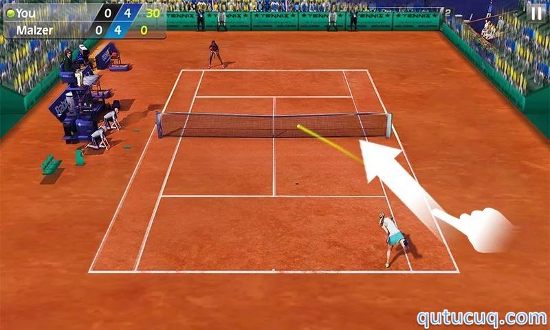 Скриншот в 3D Tennis