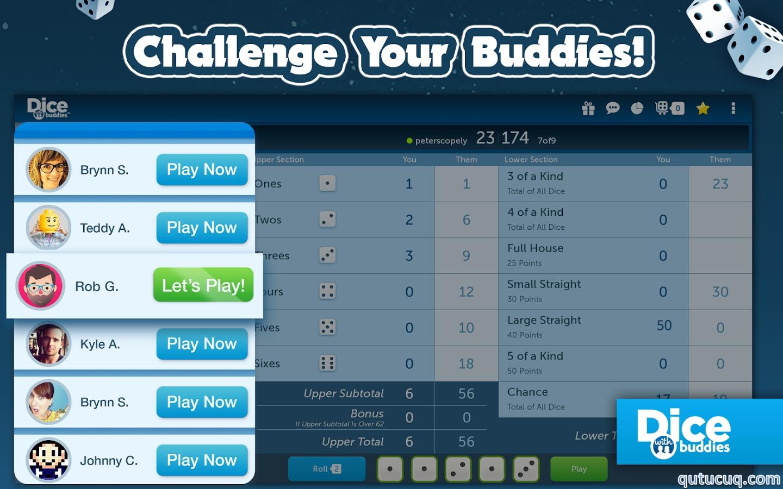 Dice With Buddies ekran görüntüsü