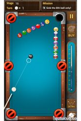 The king of Pool billiards ekran görüntüsü