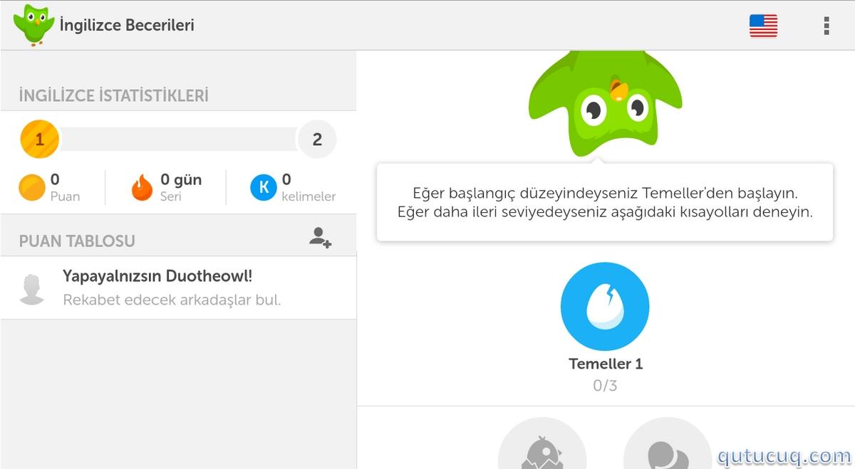 Duolingo İngiliscə Öyrənmək ekran görüntüsü