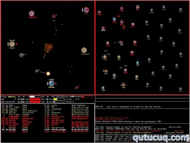 Netrek XP 2010 ekran görüntüsü