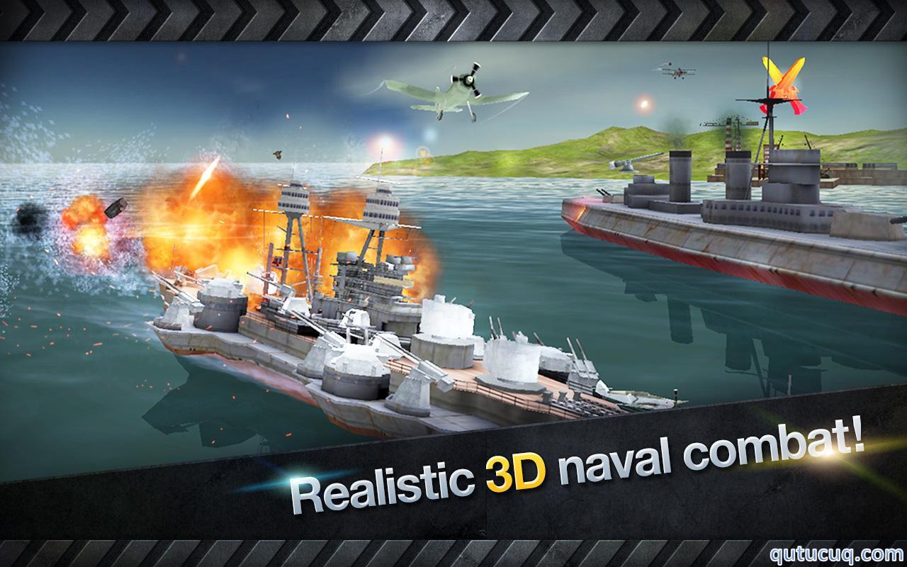 WARSHIP BATTLE: 3D World War II ekran görüntüsü