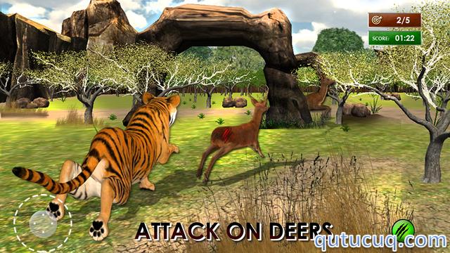 Wild Tiger Jungle Hunt 3D ekran görüntüsü
